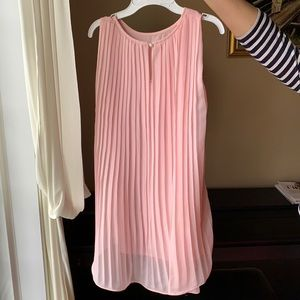 Pink Dress with Pleated Back for 7Y